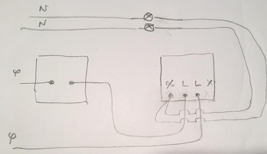 Branchement variateur lumi re odace avec un poussoir for Installer un variateur de lumiere